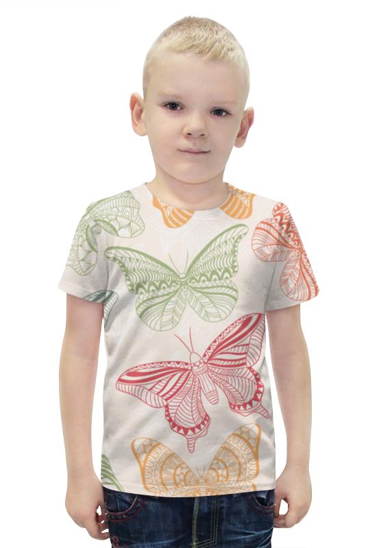 Футболка с полной запечаткой для мальчиков Printio Бабочки футболка с полной запечаткой для мальчиков printio bats spawn arsb