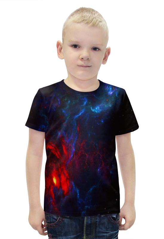 Футболка с полной запечаткой для мальчиков Printio Космос футболка с полной запечаткой для мальчиков printio bats spawn arsb