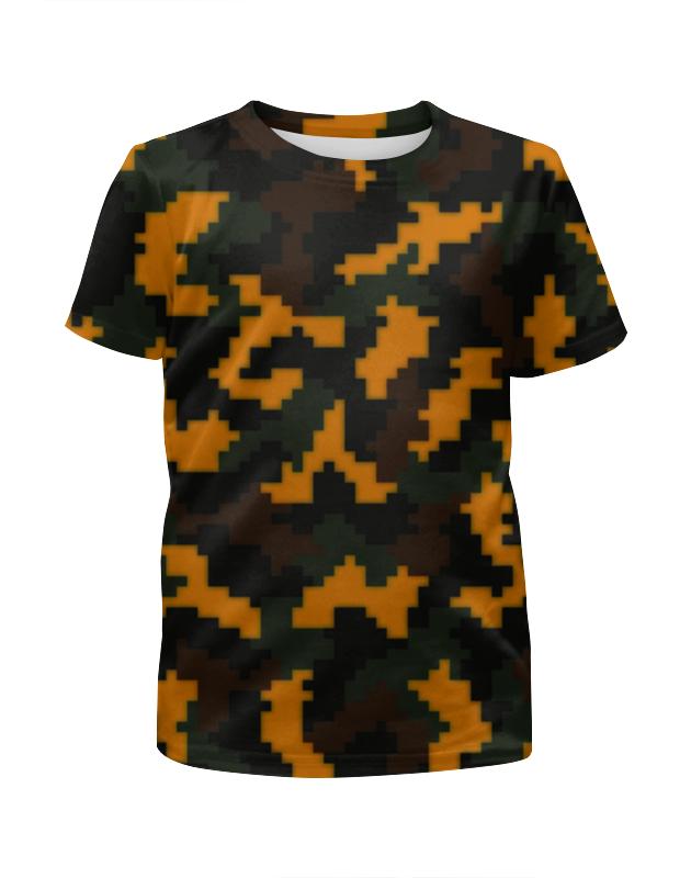 Футболка с полной запечаткой для мальчиков Printio Камуфляж текстура футболка с полной запечаткой для мальчиков printio bats spawn arsb
