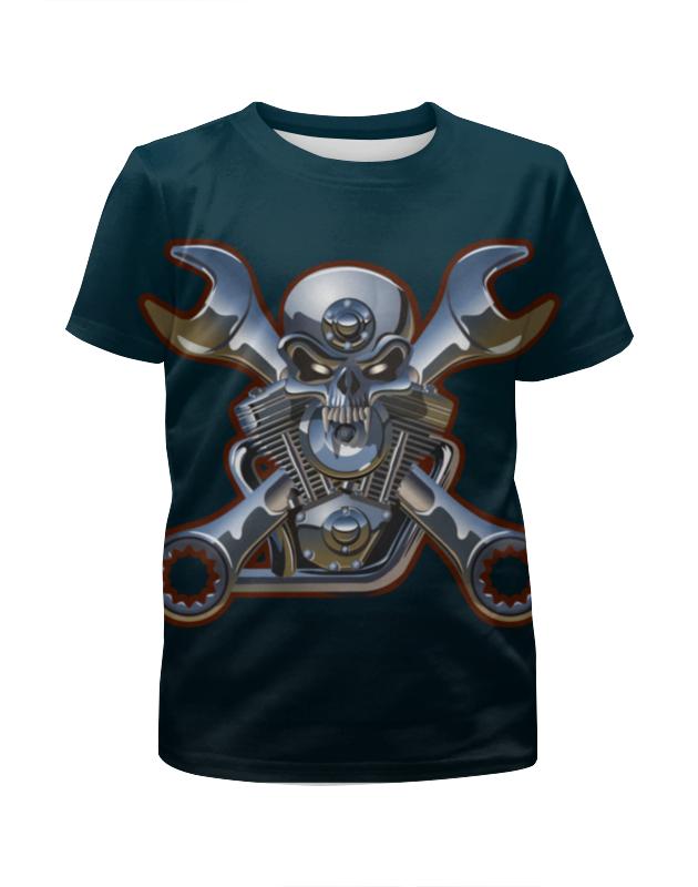 Футболка с полной запечаткой для мальчиков Printio Metal skull футболка с полной запечаткой для мальчиков printio braaaaatnsssss