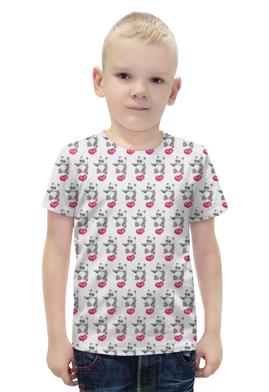 Футболка с полной запечаткой для мальчиков Printio Панда с сердечком футболка с полной запечаткой для мальчиков printio панда