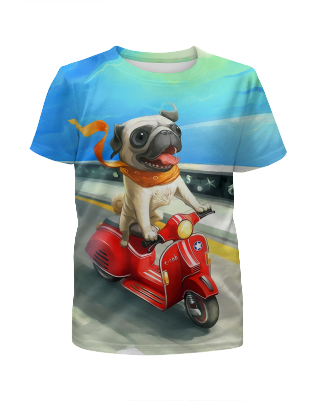 Футболка с полной запечаткой для мальчиков Printio Гонщик футболка с полной запечаткой для девочек printio гонщик