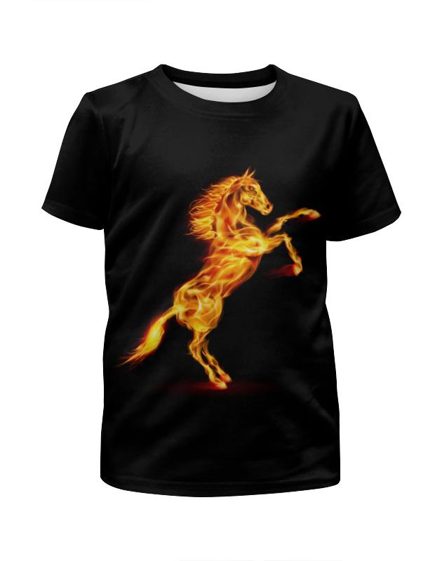 Футболка с полной запечаткой для мальчиков Printio Огненная лошадь футболка с полной запечаткой мужская printio огненная лошадь