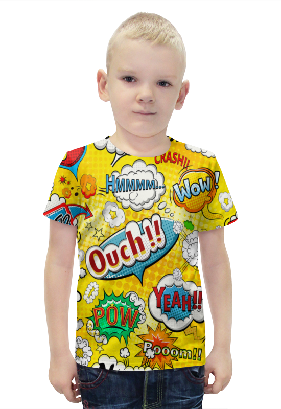Футболка с полной запечаткой для мальчиков Printio Pop-art футболка с полной запечаткой для мальчиков printio bats spawn arsb