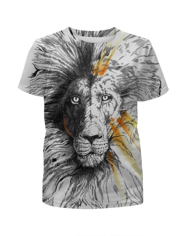 Футболка с полной запечаткой для мальчиков Printio The lion футболка с полной запечаткой для мальчиков printio the pattern of lines