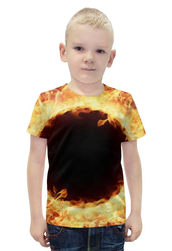 Футболка с полной запечаткой для мальчиков Printio Пламя футболка с полной запечаткой для мальчиков printio bats spawn arsb