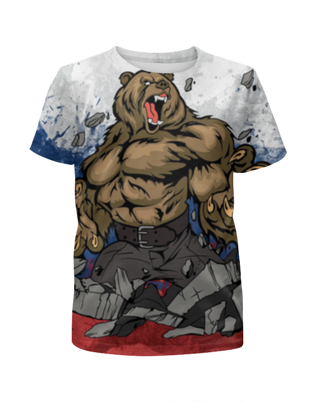 Футболка с полной запечаткой для мальчиков Printio Русский медведь (russian bear) футболка для беременных printio putin love russian bear