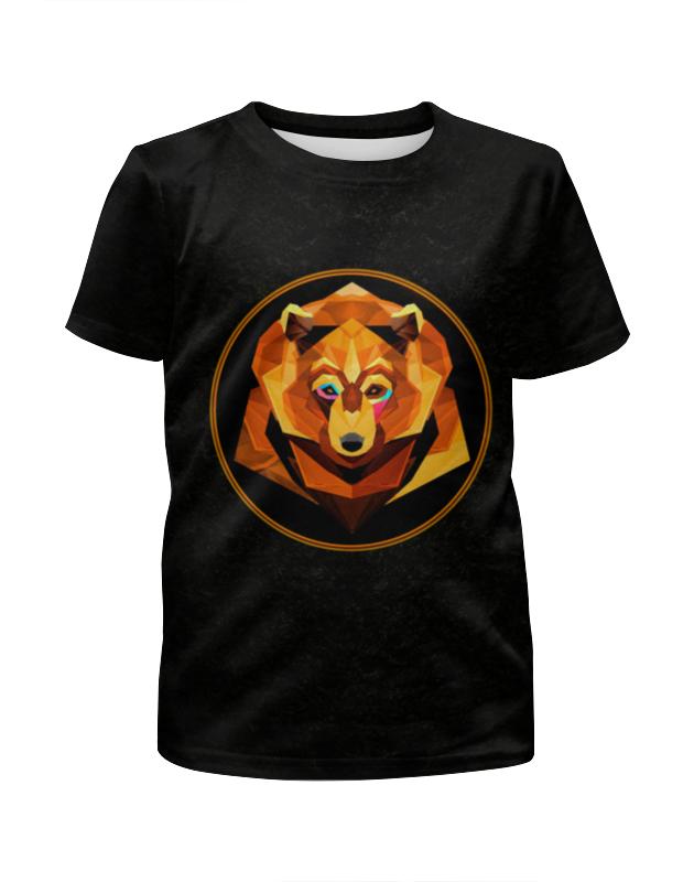 Футболка с полной запечаткой для мальчиков Printio Bear face футболка с полной запечаткой для мальчиков printio ночь всех святых