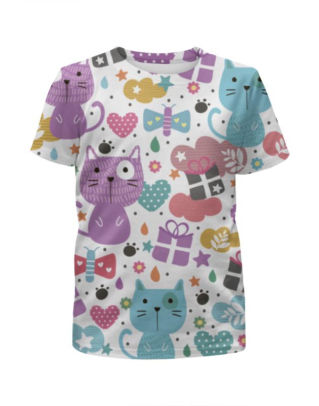 Футболка с полной запечаткой для мальчиков Printio Котики и бабочки футболка с полной запечаткой для мальчиков printio спящие котики