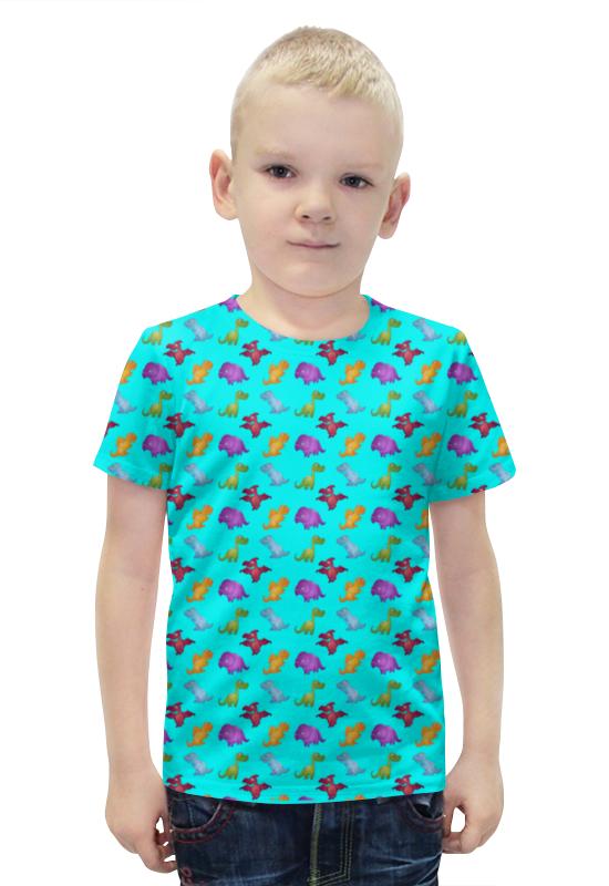 Футболка с полной запечаткой для мальчиков Printio Динозаврики футболка с полной запечаткой для мальчиков printio slove arsb