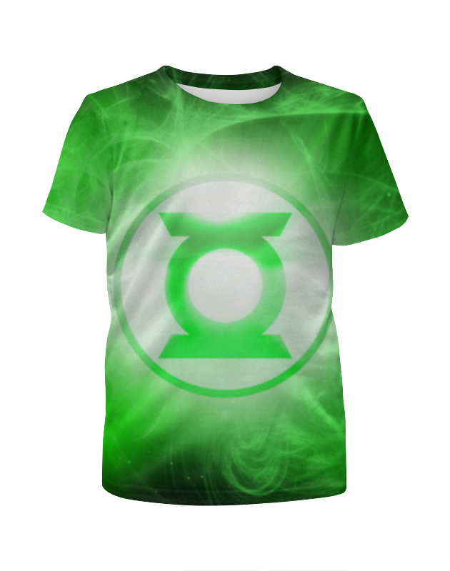 Футболка с полной запечаткой для мальчиков Printio Зелёный фонарь (green lantern) цена и фото