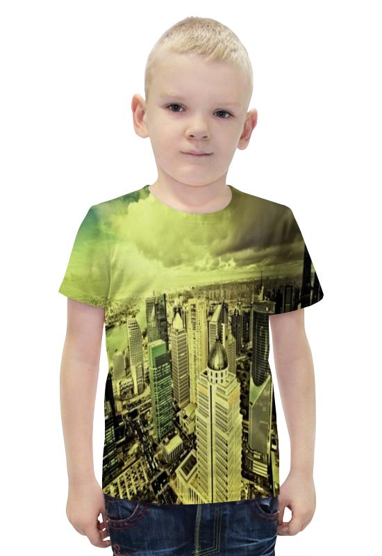 Футболка с полной запечаткой для мальчиков Printio Мегаполис футболка с полной запечаткой для мальчиков printio slove arsb