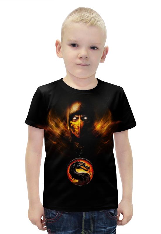 Футболка с полной запечаткой для мальчиков Printio Mortal kombat