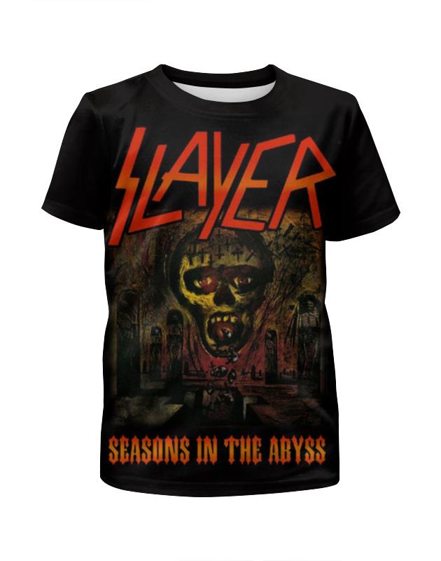 Футболка с полной запечаткой для мальчиков Printio Slayer season in the abyss 1990 футболка для беременных printio season of the witch