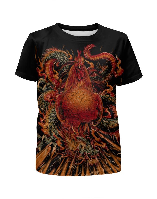 Футболка с полной запечаткой для мальчиков Printio Петух и дракон футболка с полной запечаткой для мальчиков printio дракон