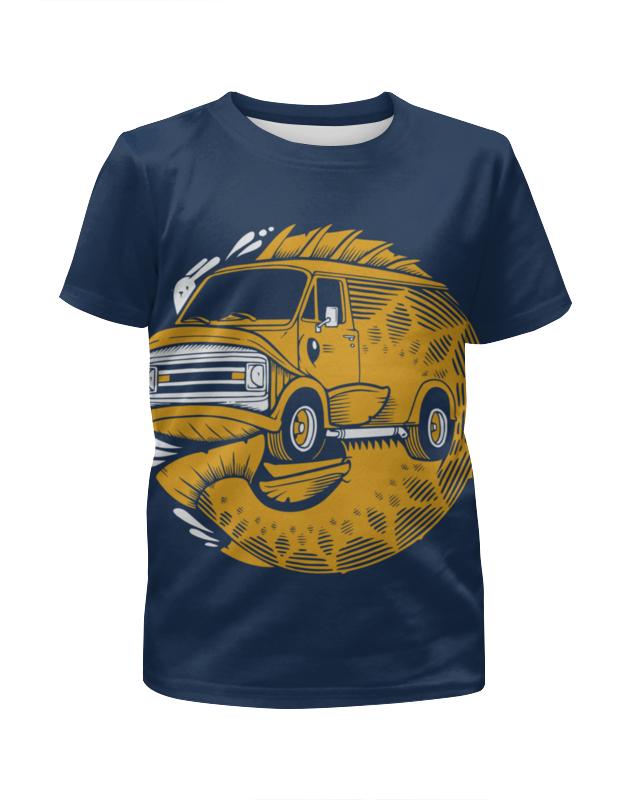 Футболка с полной запечаткой для мальчиков Printio Fish bus / рытобус (рыба автобус)
