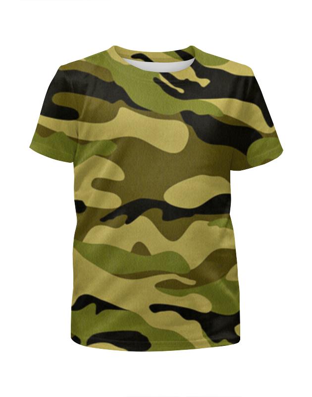 Футболка с полной запечаткой для мальчиков Printio Камуфляж футболка камуфляж