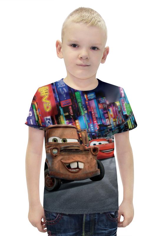 Футболка с полной запечаткой для мальчиков Printio Тачки футболка с полной запечаткой для мальчиков printio bats spawn arsb