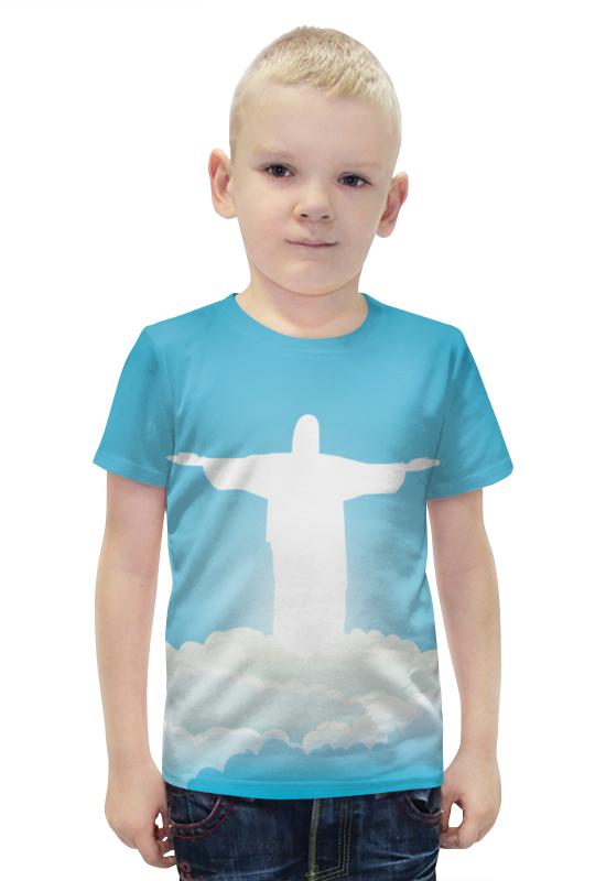 Футболка с полной запечаткой для мальчиков Printio Иисус христос вышивка бисером молящийся христос
