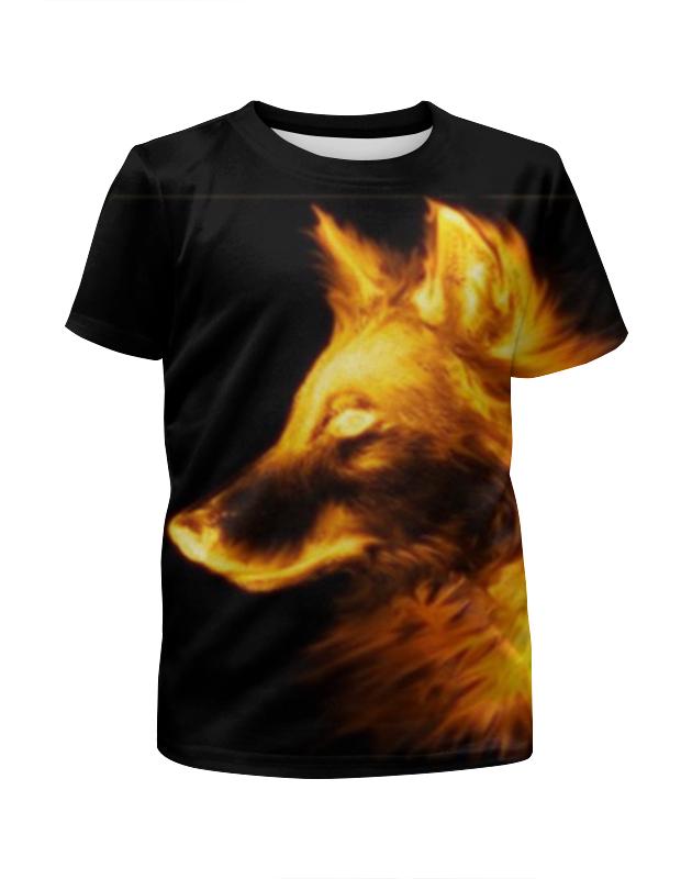 Футболка с полной запечаткой для мальчиков Printio Огненный волк футболка с полной запечаткой для мальчиков printio тату волк