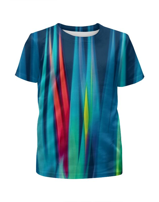 Футболка с полной запечаткой для мальчиков Printio Синие линии футболка с полной запечаткой женская printio линии