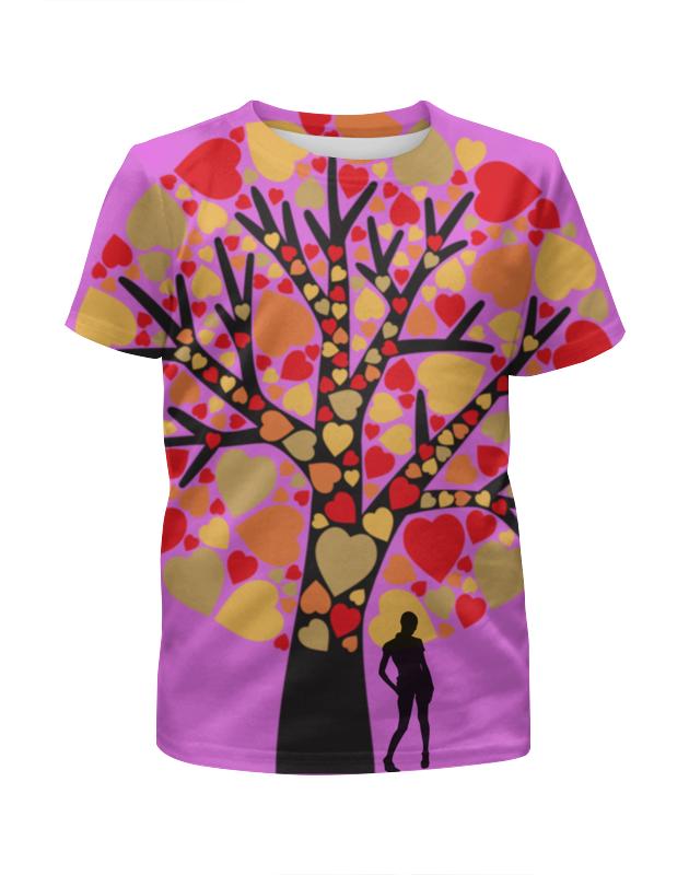 Футболка с полной запечаткой для мальчиков Printio Дерево любви футболка с полной запечаткой для мальчиков printio bats spawn arsb