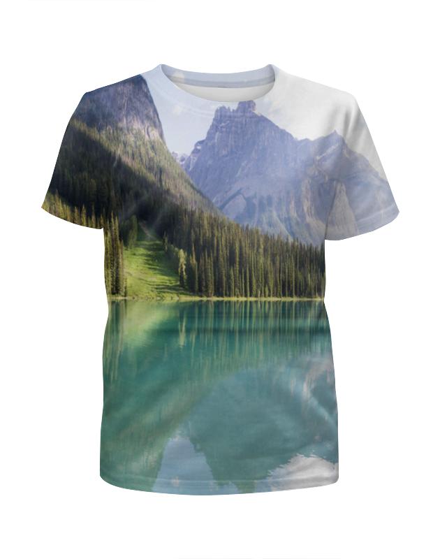 Футболка с полной запечаткой для мальчиков Printio Прозрачное озеро футболка с полной запечаткой женская printio подземное озеро