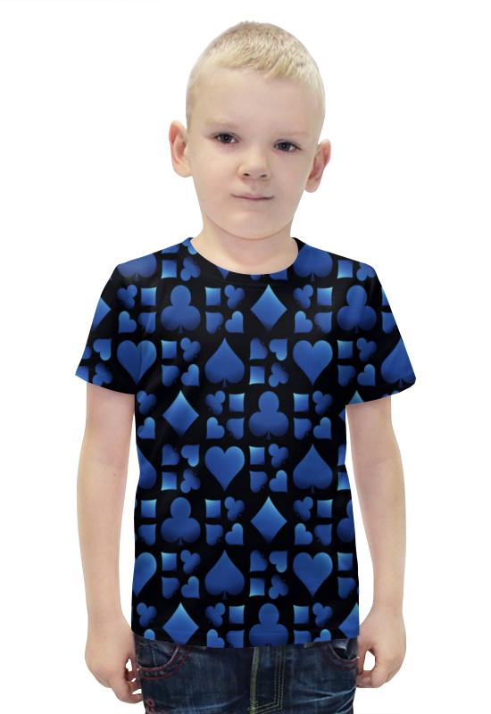 Футболка с полной запечаткой для мальчиков Printio Карточный футболка с полной запечаткой для мальчиков printio bats spawn arsb
