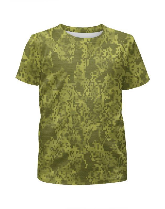 Футболка с полной запечаткой для мальчиков Printio Зелёный пиксельный камуфляж футболка с полной запечаткой для мальчиков printio серый пиксельный камуфляж