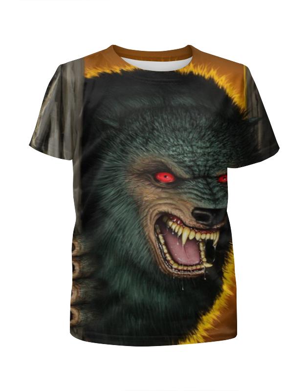 Футболка с полной запечаткой для мальчиков Printio Волк вампир футболка с полной запечаткой для мальчиков printio тату волк