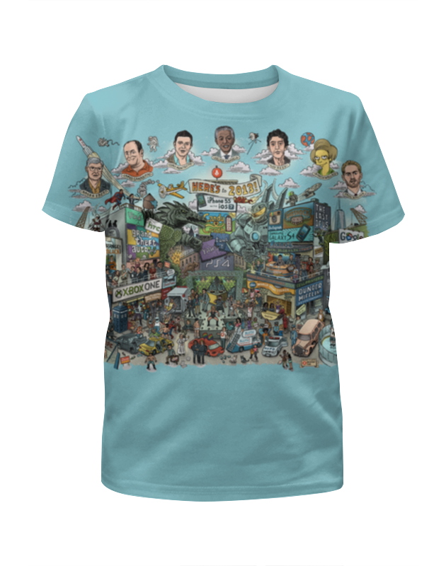 Футболка с полной запечаткой для мальчиков Printio Amazing city футболка с полной запечаткой для мальчиков printio bats spawn arsb