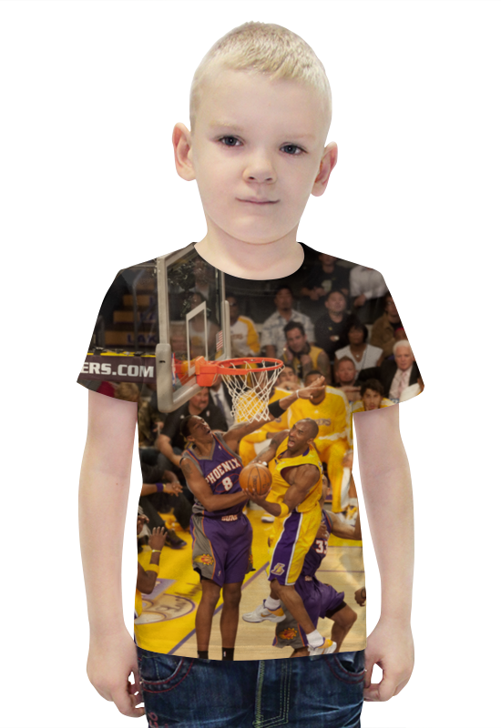 Футболка с полной запечаткой для мальчиков Printio Lakers - kobe