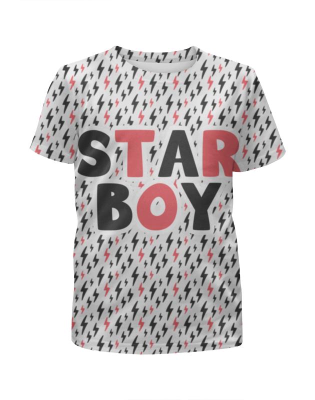 Футболка с полной запечаткой для мальчиков Printio Starboy толстовка wearcraft premium унисекс printio the weeknd starboy