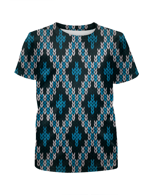 Футболка с полной запечаткой для мальчиков Printio Вязаный узор футболка с полной запечаткой мужская printio вязаный узор зима