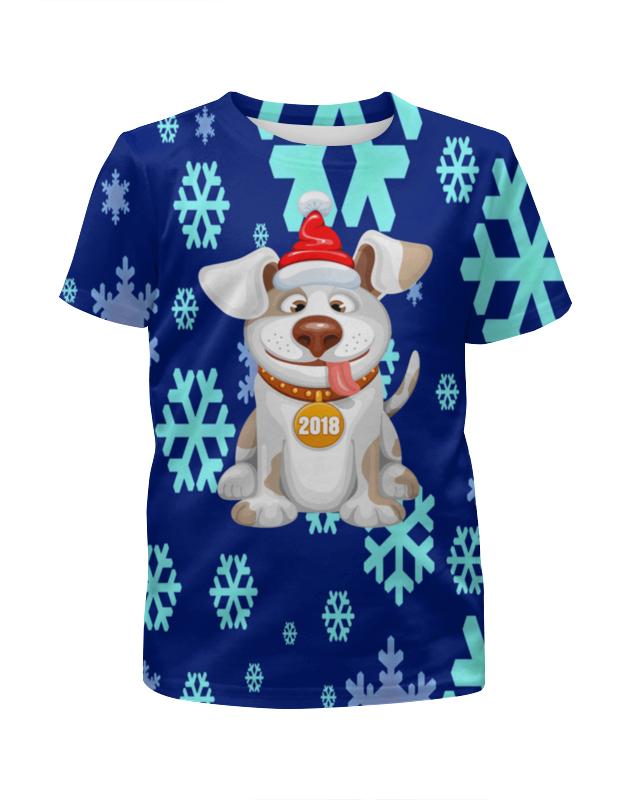 Футболка с полной запечаткой для мальчиков Printio Новый год 2018 футболка с полной запечаткой для мальчиков printio новый год 2016