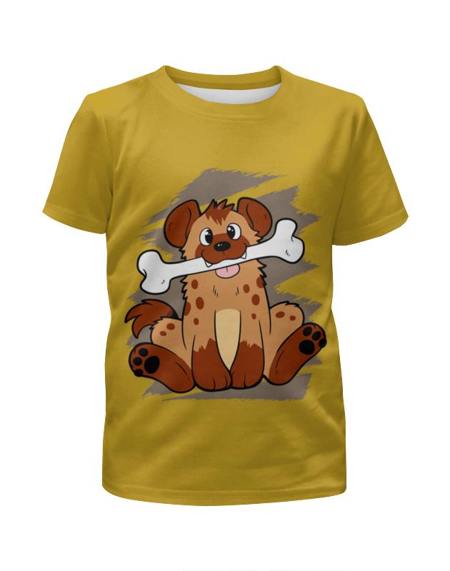 Футболка с полной запечаткой для мальчиков Printio Собачка с косточкой футболка с полной запечаткой для мальчиков printio собачка