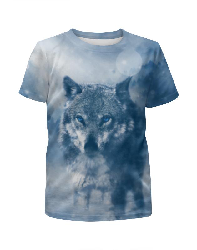 Футболка с полной запечаткой для мальчиков Printio Волк с голубыми глазами футболка с полной запечаткой для мальчиков printio волк