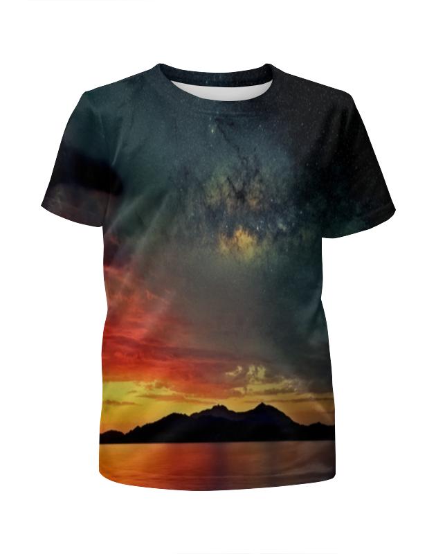 Футболка с полной запечаткой для мальчиков Printio Закат футболка с полной запечаткой для мальчиков printio пламенный закат