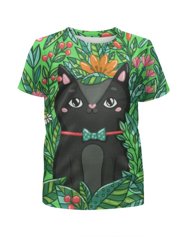 Printio Котик футболка с полной запечаткой для мальчиков printio котик новогодний