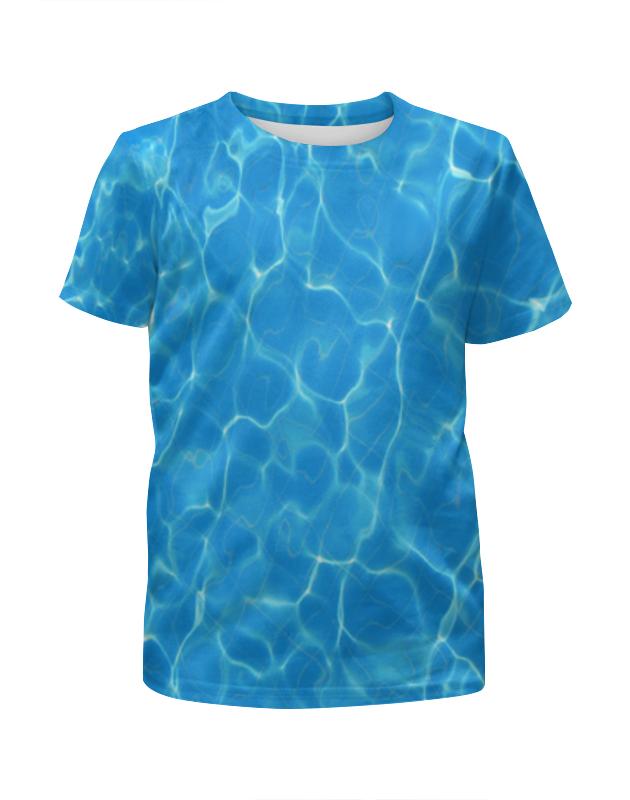 футболка с полной запечаткой для мальчиков printio остров в море Футболка с полной запечаткой для мальчиков Printio Море (вода)
