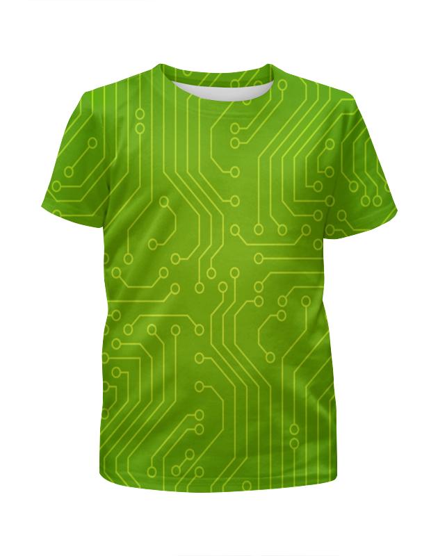 Футболка с полной запечаткой для мальчиков Printio Зелёная плата футболка с полной запечаткой для мальчиков printio bats spawn arsb
