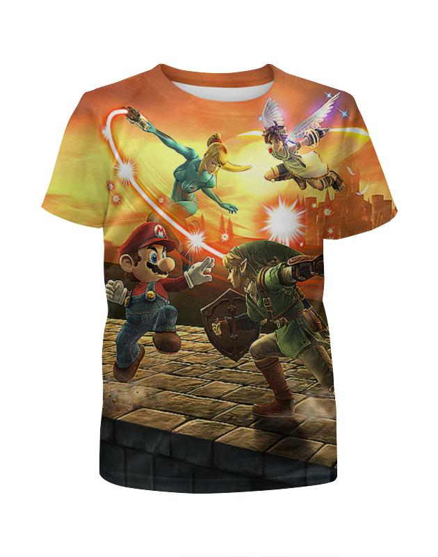 Printio Super mario. видеоигры футболка с полной запечаткой для девочек printio super mario видеоигры