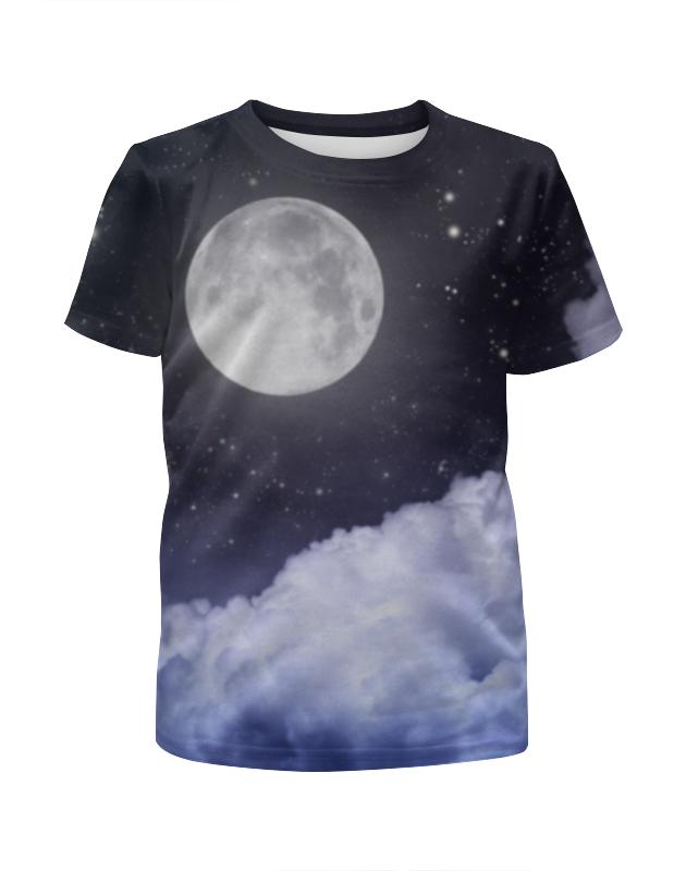 Футболка с полной запечаткой для мальчиков Printio Ночь и луна футболка с полной запечаткой для мальчиков printio ночь всех святых
