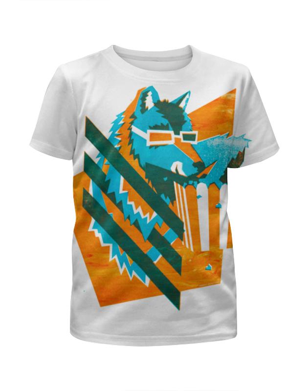 Футболка с полной запечаткой для мальчиков Printio Волк с попкорном футболка с полной запечаткой для мальчиков printio braaaaatnsssss