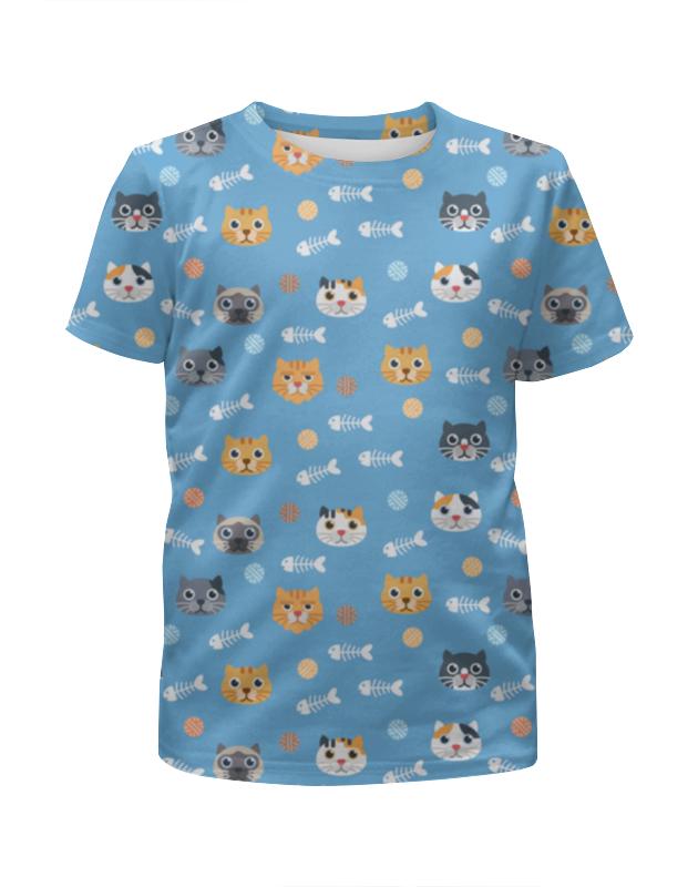 Футболка с полной запечаткой для мальчиков Printio Кошки футболка с полной запечаткой для мальчиков printio взгляд черной кошки