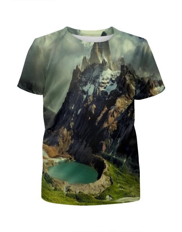 Футболка с полной запечаткой для мальчиков Printio Озеро футболка с полной запечаткой женская printio подземное озеро