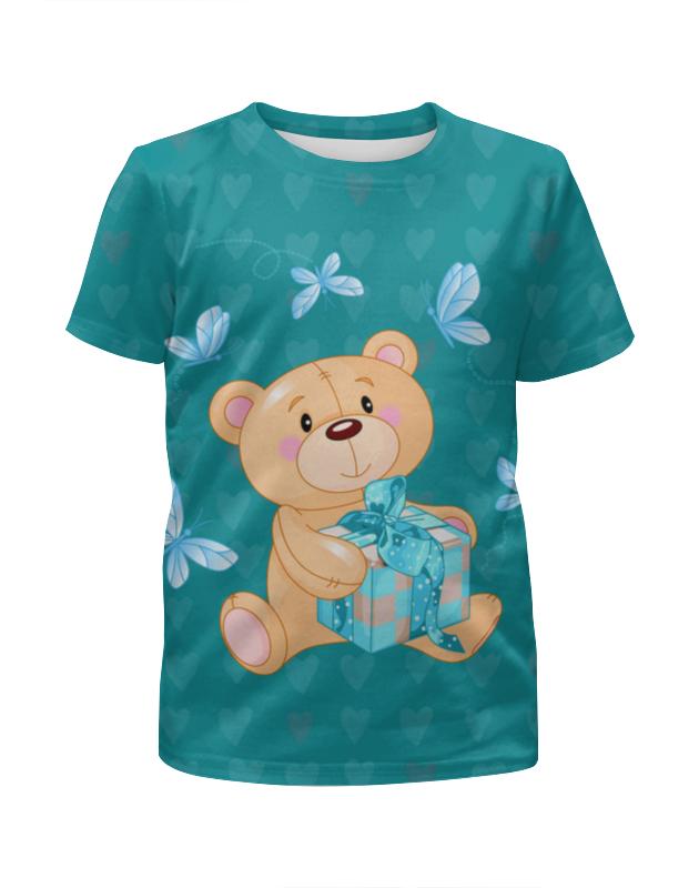 Футболка с полной запечаткой для мальчиков Printio Любимый мишка футболка с полной запечаткой для девочек printio мишка тед