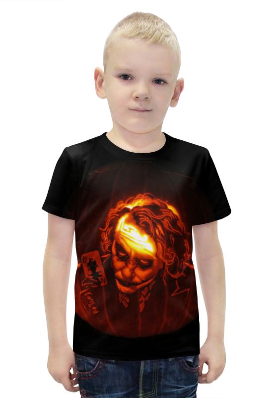 Футболка с полной запечаткой для мальчиков Printio Тыква-джокер футболка с полной запечаткой для мальчиков printio ночь всех святых