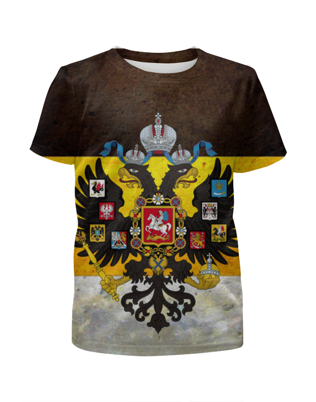 Футболка с полной запечаткой для мальчиков Printio Флаг российской империи дмитрий литвин настоящий флаг российской империи – бело жёлто чёрный брошюра настоящий имперский флаг российской империи