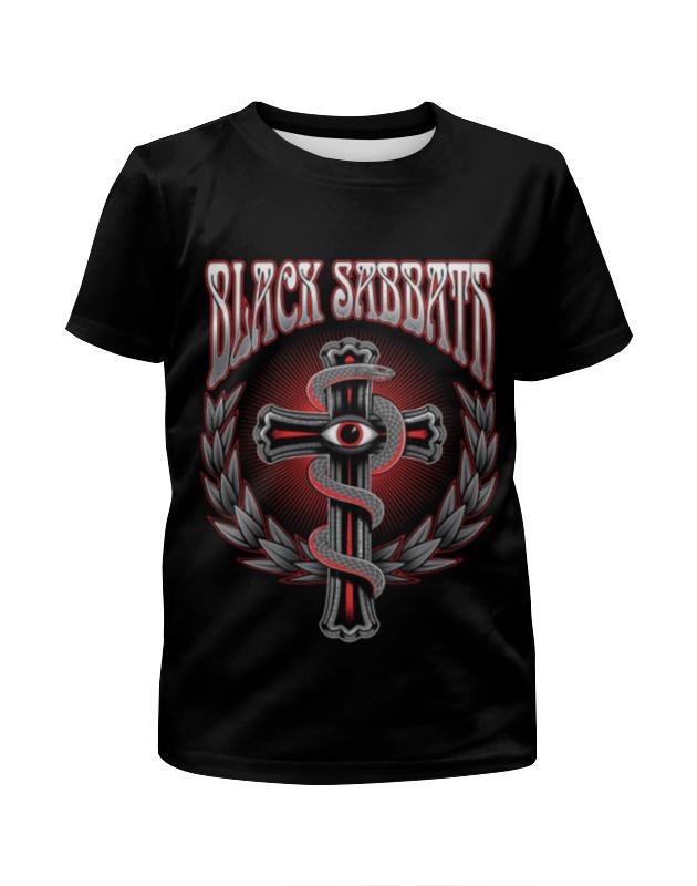 Футболка с полной запечаткой для мальчиков Printio Black sabbath футболка с полной запечаткой для девочек printio mac sabbath black sabbath